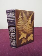 1867 KJV Bible - Wood Covers with Leaf Imprint