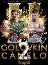 Saul Canelo Alvarez vs Gennady GGG Golovkin II 4LUVofBOXING Poster New wall art