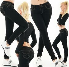 Women's Low Cut Skinny Jeans slim fit with Bow Hip Jeans Black size 6-14