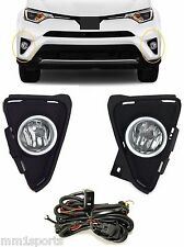 FOG LIGHT KIT FOR  2016 2017 TOYOTA RAV4 LAMPS BEZELS HARNESS SWITCH H16 BULBS