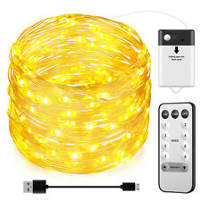 ORIA 32.8ft Warm White 100 LED Solar Powered Fairy String Wedding Light Outdoor