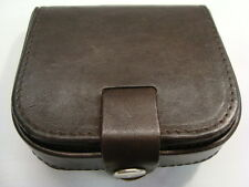 Geniune Cow Calf Leather Gents Square Tray Purse for change and Notes Lorenz