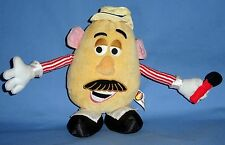 "Disney PLUSH MR POTATO HEAD-8"";Posable arms;microphone;Toy Story;Barber Shop;NWT"