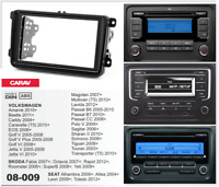 CARAV 08-009 2-Din Kit de instalación de radio VW Golf Passat T5 EOS Touran SEAT