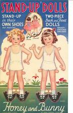 Vintage Uncut 1930S Stand-Up Paper Doll Hd Laser Reproduction~Lo Pr~Hi~Hi Qual