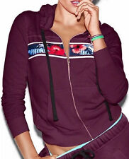 Pink by Victoria's Secret Perfect Jacket Hoodie Sweats XSmall NWT Burgundy