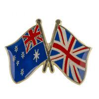 AUSTRALIA & UK FRIENDSHIP FLAG Enamel Pin Badge Lapel Brooch Fashion Gift PN10