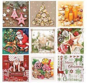 Christmas Paper Napkins for Decoupage Craft Serviettes Winter 33x33cm 3PLY x 20
