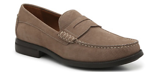 NWT Johnston & Murphy Chadwell Tauple Leather Nubuck Penny Loafer Designer Shoe