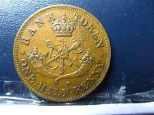 PC-5D Halfpenny 1857 token Province of Upper Canada Bank Breton 720