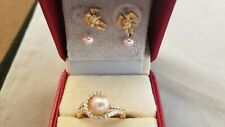 Pearl Ring and Earrings