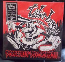 Tedio Ragazzi-porkabilly psicosi LP RED-BLACK SPLATTER in Vinile (nuovo) psychobilly
