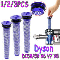 For Dyson DC58 59 V6 V7 V8 DC Animal Absolute Cordless Vacuum Pre Filter 1/2/3PC
