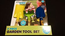 Discovery Kids 3 Piece Real Garden Planting Farmer Tools Hand Rake Shovel Trowel