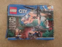 Bulk LEGO City Jungle Cargo Helicopter 60158 Building Kit 201 Fast Shipping