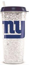 NFL New York Giants Crystal Freezer Travel Tumbler Mug - (16oz) w/Straw