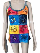 Womens Tie Dyed Top, Colorful Trendy, Size M, NEW