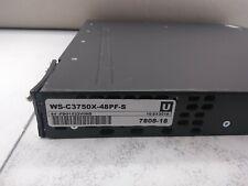 Cisco WS-C3750X-48PF-S 48-Port Ethernet Switch 780818
