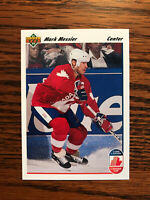 1991-92 Upper Deck #14 Mark Messier Hockey Card New York NY Rangers NHL Raw