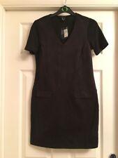 BNWT Primark Black Dress Faux Suede Front Size 6 RRP £10
