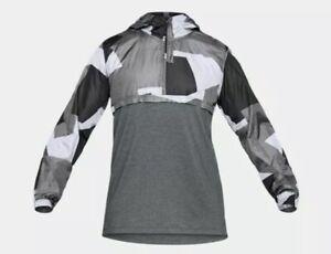 Under Armour UA Sportstyle Wind Anorak 1/2 Zip Jacket Mens 2XL 1311107 Fast Ship
