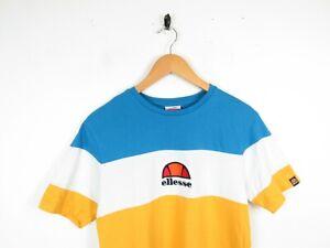 Mens Ellesse Middle Logo Embroidered Short Sleeve Pannelled T Shirt Size Medium
