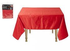 Red Poinsettia Embossed Christmas Tablecloth 132cm x 178cm Rectangular Poinsetta