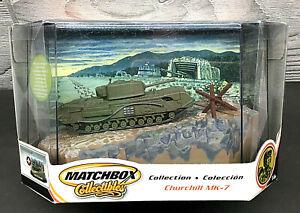 MATCHBOX COLLECTIBLES CHURCHILL MK-7 TANK BEACH ASSAULT1944 NORMANDY DIORAMA