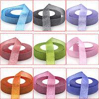 25yards 10mm 20mm Sparkle Glitter Velvet Ribbon Headband Clips Bow Decoration