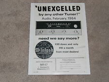 McIntosh Mr 67 Tube Fm Tuner Ad, 1964, Info, 1 page, ready to frame