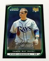 2008 Bowman Chrome Draft Evan Longoria RC #BDP27 Tampa Bay Rays MLB Giants