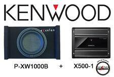 Kenwood P-XW1000B 1000 Watt Subwoofer Enclosure w/ X500-1 Monoblock Amplifier