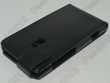 Black Leather Cover Pouch Flip Case for Nokia LUMIA 800