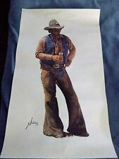 "ART PRINT/GORDON SNIDOW/""AIN'T NO CITY BEER/SIGNED/WESTERN"