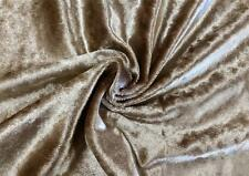 "Gold Poly Velour Velvet Fabric Upholstery Drapery Material Sold by the Yard 54""W"