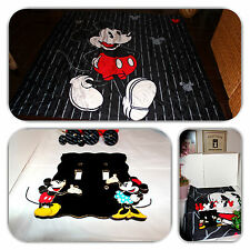 STYLISH MICKEY MOUSE SHOWER DISNEY CURTAIN, VINTAGE LIGHT COVER & 10 HOOK LOT!