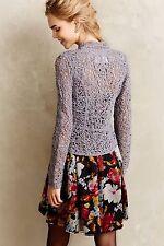 NWT $128 Anthropologie Odense Crochet Topper L SILVER GREY