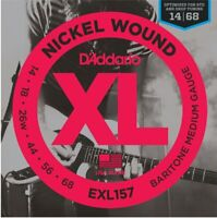 EXL157 Baritone Electric Guitar Strings 14-68 D'Addario