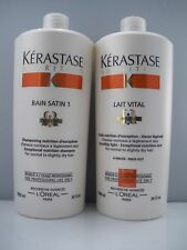 Kerastase new bain satin n°1 + 1 lait vital irisome salon size 2 x 1000 ml each