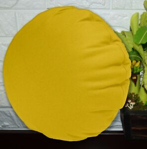 PL01n-Yellow-Canvas-Water-Proof-Outdoor-Round-Shape-Cushion-Cover-Custom-Size