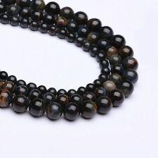 Natural Tiger's Eye Gemstone Stone Round Loose Beads 15.5'' DIY Blue/Yellow/Red