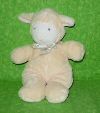 "Unipak LAMB PLUSH LOVEY Yellow Stuffed Animal Sheep Rattle 8"" tall"
