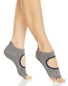 ToeSox Womens 179188 Contrast Bellarina Half Toe Grip Socks Size M