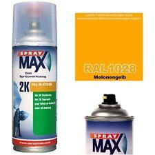 2K Lackspray RAL 1028 Farbe MELONENGELB Glänzend Lack Sprühfarbe Acryllack 400ml