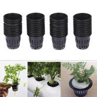 Black Mesh Pot Net Cup Basket Hydroponic Aeroponic Grow Plant Clone E6M0