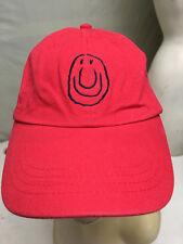Seeds of Happiness Red Smiley Face Strapback Baseball Cap Hat Kirkwood Missouri