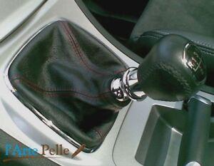 Ford S Max Galaxy cuffia Cambio Nero e Cuciture Rosse