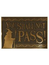 Lord of the Rings LotR Door Mat You Shall Not Pass Rubber Doormat Gold 60x40cm