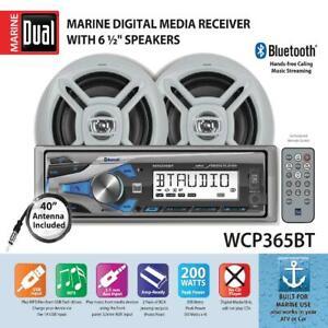 Marine Stereo System Built In Bluetooth Single DIN USB Port Long Range Antenna