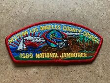 VINTAGE BSA BOY SCOUTS OF AMERICA RED 1989 WESTERN LOS ANGELES COUNCIL PATCH